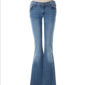 7 For All Mankind Bootcut Jeans w/ Pink Stitching